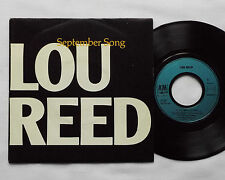 """Lou REED September song/O heaven salvation FRENCH 7""""45 w/PS A&M Records (1985)"""