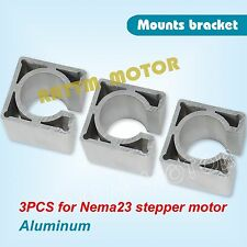 3pcs Nema23 Stepper Motor Mount Aluminium Bracket Clamp Support For CNC Router