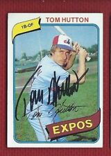 TOM HUTTON AUTOGRAPH Auto EXPOS SIGNED 1980 TOPPS