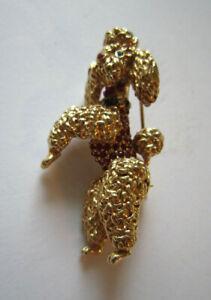 Vintage Ciner Rhinestone Poodle Pin Brooch