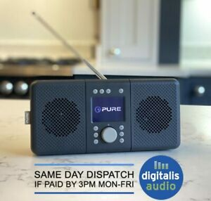 Pure Elan CONNECT+ DAB, DAB+ FM Internet Radio with Bluetooth Charcoal
