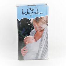 Tragetuch Babytragetuch grau 4-in-1 für Männer und Frauen von BabyCakes