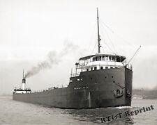 Photograph Steamship Thomas Lynch Detroit River Bob-Lo Boat in Background 1908
