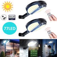 70LED Solar PIR Motion Power Panel Lamp Outdoor Street Wall Induction Lamp Light