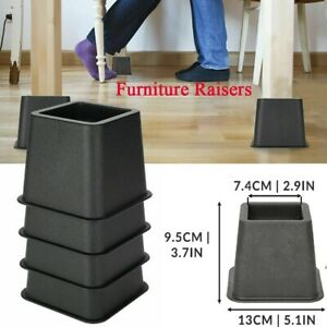 Pack of 4 Furniture Risers Bed Risers