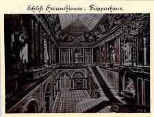 Jos. Albert, München, Schloss Herrenchiemsee, Treppenhaus  Vintage print. German