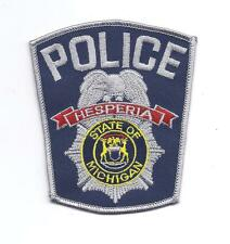 **HESPERIA MICHIGAN POLICE PATCH**