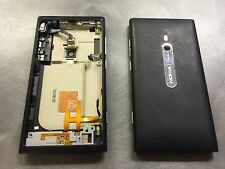 Genuine Nokia Lumia 800 Battery Rear Cover Housing Chassis With Components Black