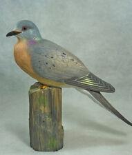 Extinct Passenger Pigeon Original Wood Carving