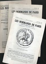 les Normands de Paris lot de 3 bulletins de la Société, association de Normands