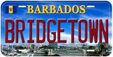 Barbados Bridgetown Novelty Car License Plate P01