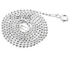 925 Silber Halskette - Kugelkette Ø 1,5 mm, Länge: 55 cm - Beste Preis - TOP