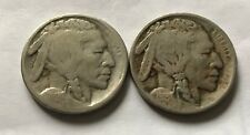1913-D and 1913-S Type-2 Buffalo Nickel - G/VG (Lot 1)