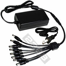 DC 12V 5A Power Supply Adapter & 8 Split Power Cable - CCTV Security Camera DVR
