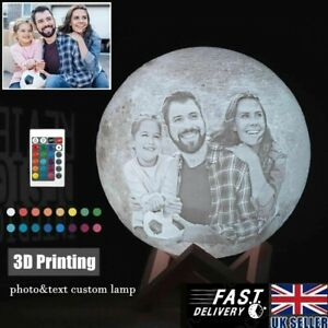 Photo/Text Custom 3D Printing Moon Lamp Night Light Customized Personalized Luna