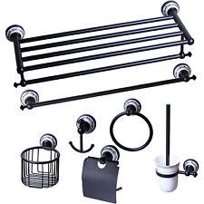 Black Bar Hangers Hooks Holder Rack Shelf Accessories Stainless Steel Wall Mount