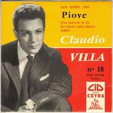 """CLAUDIO VILLA """"PIOVE"""" 50'S EP CID / CETRA 270.540"""