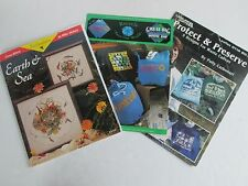 """3 Patterns """"Earth & Sea"""" Recycle Protect & Preserve Waste Designs  GC"""