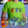 Legend of Zelda Pokemon Triforce Nintendo Game Unisex Mens Tee Crew Neck T-Shirt