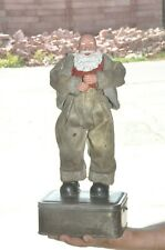Vintage Unique Iron & Plastic/Celluloid Laughing Old Man Dancing Toy, Japan?