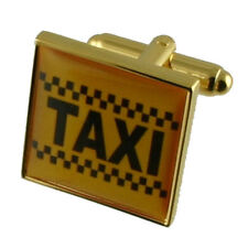 Taxi Gold Cufflinks With Pouch