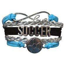 Blue Pink Soccer Bracelet
