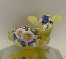Fenton DEER / FAWN Buttercup Satin DAISIES & FORGET ME NOTS OOAK FREEusaSHIP