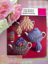 Vintage Tea Cosy Knitting Pattern In 3 Styles & Egg Cosies  JUST £2.49 + NO  P&P
