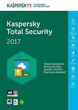 Kaspersky Total Security 2017  1 Gerät 12 Monate ESD NEU