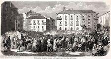 Messina,piazza dei Crociferi: Padre Gavazzi,Cappellano Spedizione dei Mille.1860