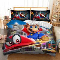 Mario Bros Duvet Cover Set Twin Full Queen King Size Bedding Set Pillowcase