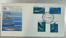 Australia 1982 Whales Fdc Melbourne Cds Unaddressed Scott # 821 822 823 824