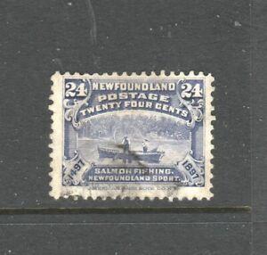 NEWFOUNDLAND #71 SALMON FISHING USED  GOOD CONDITION