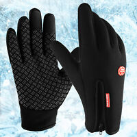 Men Women Winter Warm Cycling Gloves Thermal Windproof Touch Screen Cold Weather
