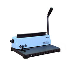 12Pages/20Lb 34Holes Punching Binding Machine All Steel Metal Spiral Coil Binder
