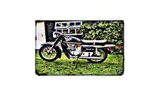 Cossack Voskhod Motorbike Sign Metal Retro Aged Aluminium Bike