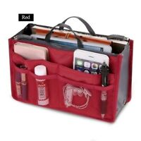 Cosmetic Insert Pouch Toiletry Organizer Handbag Storage Bag Makeup Purse Travel
