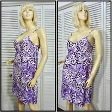 NWT $48 CRUZ NATORI Chemise Nightgown SMALL Purple Multi Aristocat Stretchy Cute