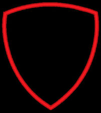 More details for blank shield patches for sub printing or vinyl printing with embroidered border