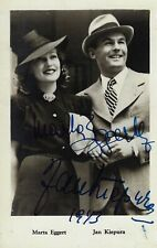 "Jan Kiepura ""POLONAISE"" Marta Eggert 1943 Signed (Autographed) Broadway Postcard"