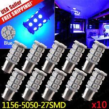 10x Blue 1156 27-SMD Backp Reverse Trailer Interior LED Light Bulbs 1141 1003