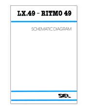 SIEL LX49 Ritmo 49 Service Manual Schematic Diagram Schaltplan Schéma électrique