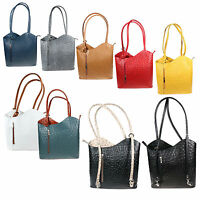 New Women's Genuine Italian Leather Ostrich Design Handbag and Backpack H003