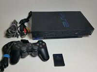 Sony PlayStation 2 Console - Black (SCPH-39001) - Controller - Cords - Memory