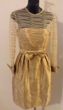 Gorgeous Stanley Platos/Martin Ross Saks Fifth Ave -Gold Lace Dress- Size  2-4