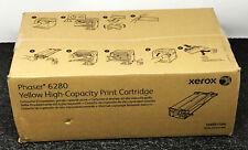 Genuine Xerox High Capacity Phaser 6280 Toner Cartridge Yellow 106R01394 New