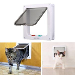 4 Way Small Medium Large Pet Cat Dog Lockable Safe Plastic Frame Flap Door