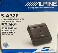 Alpine S-A32F 4-Channel Car Amp 320 Watt Brand New in box never opened