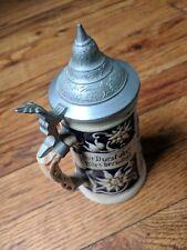 Vintage Reinhold Merkelbach German Beer Stein Mug: Thirst Conquers All