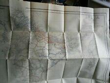 Large folding map of India showing Railways (Open & under construction) 1944